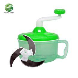 Wholesale Bowling Machines - Duolvqi Portable Vegetables Chopper Stainless Steel Salad Cutter Bowl Cut Vegetables Fruit Machine Kitchen Accessories Dlq A3