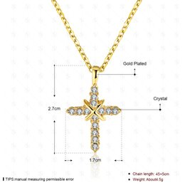 Shop yellow gold diamond cross pendant uk yellow gold diamond luxury jewelry 18k yellow gold cz cross necklace for girls women for party wedding aloadofball Image collections