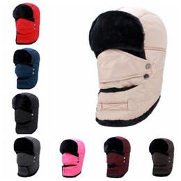 Wholesale Earflap Hat Women - Unisex Warm Winter Ski Hat Breathable Windproof Mask Earflap winter snow women cap Face Mask men's cycling hat KKA3185