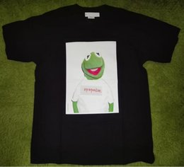 Wholesale Men Funny Shirt - 2017FW streetwear skateboard T-shirt men and women Cotton kermit frog funny short sleeve T shirt tees box logo Nasty Nas PHOTO Tees