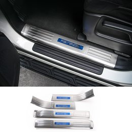 Wholesale car accessories nissan - Inner Inside the Barrier Threshold Bar Strips Car Interior Accessories Fit For Nissan Patrol 2017 4PCS