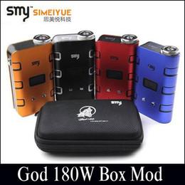2019 cloupor vape SMY Dieu 180W Box Mod 5W-180W boîte mods authentiques utilisent 18650 batterie adaptée RDA RBA sous-marin vs sigeilei 100W