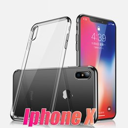 Wholesale Clear Iphone Backing - For Iphone 8X 8 Iphone X case silicon S8 plus case cover clear back transparent soft iphone8 note8 case
