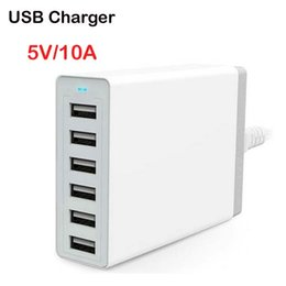 Wholesale Boxes For Ipad - Free Epacket ,6 Port USB Charger 50W Smart Super Charger for Iphone Ipad Samsung-Black +Retail box (XBX07US)