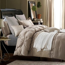 Wholesale Cotton Coverlets King Size - Silk sheets Luxury bedding set designer bedspreads queen size quilt doona duvet cover cotton bed linen full king double coverlet