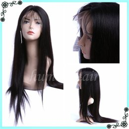 Wholesale Curly Hair Half Wigs Cheap - 7A Cheap Full Lace Human Hair Wigs For Black Women Silky Straight Brazilian Full Lace Wig With Baby Hair Glueless Lace Front Wig