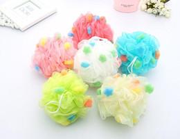 Wholesale Plastic Scrubbers - Bath Ball Bath Brushes Body Exfoliate Puff Sponge Mesh Net Candy Colors Mesh Sponge Soft Bath Brush Sponges Scrubbers 1000pcs YYA865
