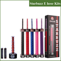Wholesale electronics hookah - Starbuzz E Hose Huge Vapor E Hookah 2200mAh 18650 Battery E Hose Kit Starbuzz Rechargeable Electronic Cigarette With Retail Kits DHL