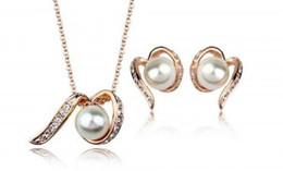 Wholesale Girls Dresses Wholesale China - imitation pearl jewelry set,pearl necklace and earring set,wedding bride jewelry,bridal dress party jewelry set LG087-80