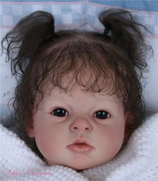 Wholesale Reborn Limbs - Wholesale-Reborn Toddler Doll Kits For ARIANNA Soft Vinyl Head Full Limbs To Make 28inch Baby Doll