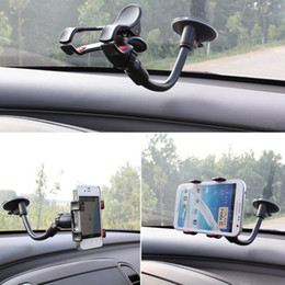 Wholesale S4 Gps - Rotating 360 Degree Universal Car Phone Holder Windshield Mount Bracket for iPhone 7 6 6s plus 5 5S S5 S4 GPS Cell Mobile Phone Holder