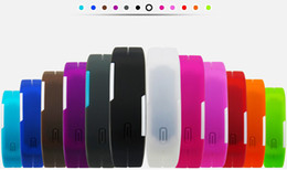 Wholesale Tan Sport Watch Plastic - Free shipping--High Quality Unisex Fashion Silicone Red Blue White LED Sport Bracelet Touch Digital Wrist Watch