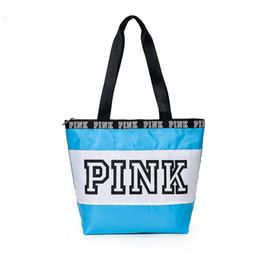Wholesale Two Fold - Women Pink handbags New crossbody bags Texture surface fold duffle bags Euramerican Fashion waterproof shopping bag