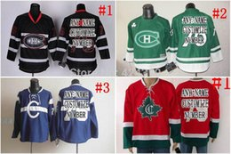 Wholesale Christmas Hockey Jersey - 2016 New, Christmas gifts Custom red White black green Montreal Canadiens Jersey home away Cheap Hockey Jersey China Any NO. Name Sewn