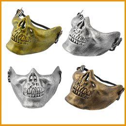 protetor de airsoft Desconto PVC rígido de alta qualidade Airsoft Paintball Esqueleto Skull Mask / Face Protective CS Games Battlefield Mask Shield for Halloween
