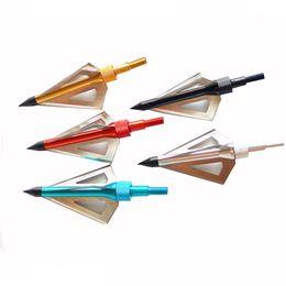 Охота Стрельба Из Лука Broadhead Arrows 3-лезвия 100Gr Лук и Арбалет Стрелка Broadhead Черный Охота Броудхэс Бесплатная Доставка от Поставщики бесплатные луки лука