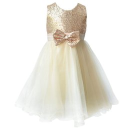 Wholesale Sequin Birthday Dresses - Flower girl dresses Children dresses Kids wedding party dress baby girls' dresses for size 2-8 years