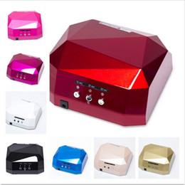 Wholesale Led Uv Diamond Lamp - Hot Sale Nail Dryer LED uv lamp 36w 110-220V gel nail machine Diamond Shaped for UV Gel Nail EU,US Plug