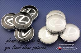 Wholesale Aluminum Hub - 4pcs 60mm car wheel center hub cap sticker logo badge wheel trims fit Lexus exterior accessories 3D sticker freeshipping