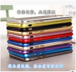 Wholesale Aluminium Bumper For Iphone 4s - Fashion Luxury Metal Bumper Frame Ultrathin Aluminium Mteal Alloy Arc Protector Case Cover For iphone 7 6 6S plus 5 5S SE 4S