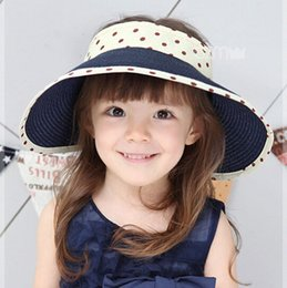 Wholesale Kid Leather Cap - Princess Style Girls Summer Sun Hat Baby Girl Hat with Bowknot Kids Party Cap Top Hat