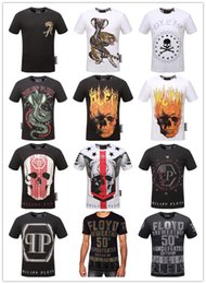 Wholesale Skull Shirt Men - Summer Men'S Fashion Brand PP Short Sleeve T Shirt Men Casual Solid Color High Quality Skulls Sports Camisetas T-Shirt #88888888888