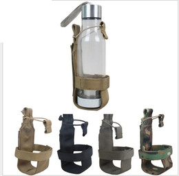 Wholesale Tactical Kettle - Army Tactical Molle Canteen Bottle Cover Pouch holster Nylon bags kettle sets for Water cups Camouflage Army Tactical Molle