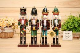 Wholesale Christmas Nutcracker Ornaments - 2016 New 30cm Nutcracker puppet soldiers home for Christmas creative ornaments party decoration