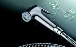 Wholesale Toilet Bidet Free Shipping - Free shipping Bathroom ABS Chrome Bidet Sprayer Handheld Toilet Spray Toilet Hand Held Bidet Shattaf with 1.5m Hose & Holder