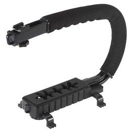 Wholesale Video Camera Brackets - C Shape Flash Bracket Holder Video Handle Handheld Stabilizer Grip for DSLR SLR Camera Phone for Sports Camera AEE Mini DV Camcorder