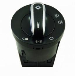 Wholesale Passat B5 Headlights - Chrome Euro Headlight Headlamp Fog Lamp Knob Switch Control For VW Jetta 4 Golf 4 GTI Mk4 Bora Passat B5 B5.5 3BD 941 531
