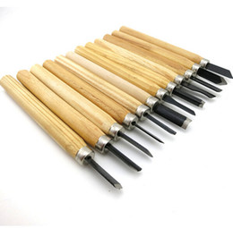 Wholesale Wood File Set - 12Pcs Set Woodcut Knife Scorper Wood Carving Tool - Woodworking Hobby Arts Craft Cutter Graver Chisel Multi DIY Pen