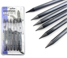 Wholesale Graphite Drawing Pencils - 6 pieces set Woodless Graphite Pencils,artists pencil set (HB, 2B, 4B, 6B, 8B & EE) for sketching and drawing