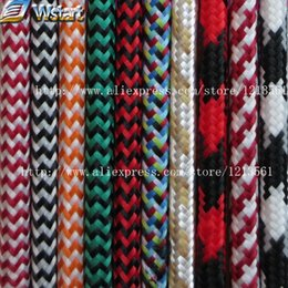 Wholesale Copper Flex - Wholesale-2*0.75 Copper Cloth Covered Wire Vintage Style Edison Light Lamp Cord Grip Twisted Fabric Lighting Flex Electric Cable