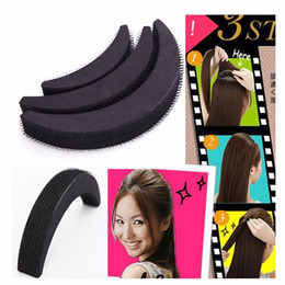 Wholesale Hair Bun Style For Girls - Wholesale-3 x Fashion Fluffy Bangs Clip Hair Styling Clip Stick Bun Maker Braid Tools For Women Ladies Girls Tool