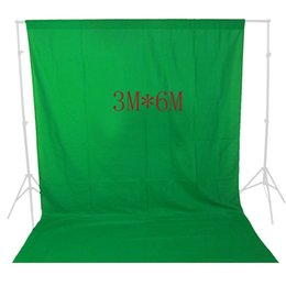 Wholesale Chromakey Green Screen Muslin - Freeshipping Photography Backdrops Solid Green Screen 10x19ft Chromakey Cloth Backgrounds Porta Retrato For Photo Studio
