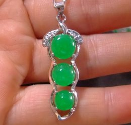 Robe de mariée garçon en Ligne-3 Styles Tibet Argent Vert Jade Malay jade pendentif Collier Fille Garçon Pendentifs 925 colliers En Argent Bijoux De Mariée pour robe de mariée