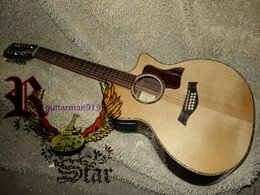 Wholesale Guitars 12 String Acoustic - Wholesale and retail Nature Acoustic Electric Guitar 12 Strings Guitar with Fishman pickups Free Shipping