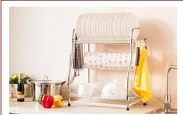 Wholesale Dish Rack Layers - Three layers of dish rack 058 large bowl. Tableware. Plate aircraft wash the dishes.