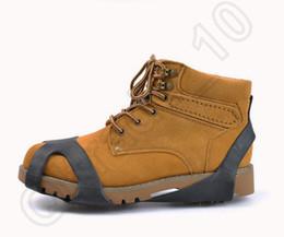 Wholesale Shoe Care Wholesalers - 200PCS HHA743 Ice Gripper Anti Slip Ice Snow Walking Shoe Spike Grip Camping Climb Ice Crampon Ice Walking Cleat