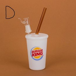Wholesale Burger King Glasses - Fresh 5 Designs Water Pipe McDonald's  In N OUT  Jack In The Box  BURGER KING Starbuck Cup Bubbler Glass smoking Pipes