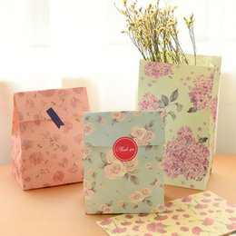 Wholesale Wedding Flower Paper - Flower printing paper bags Gift Bags, Party, Lolly,Favour, Wedding, Packaging 24pcs lot 13x23cm