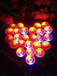 Wholesale Disco Party Supplies Wholesale - Wholesale- 50pcs lot Christmas Halloween Decoration Led Smiley Badge Yellow Smile Led Flashing Brooch Glow Brooch Disco KTV Party Supplies