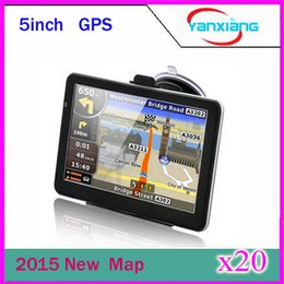 Wholesale Pc Navigation - 20 pcs 5inch GPS Navigation 5inch' Digital GPS High Resolution TFT screen MP3 MP4 FM Bluetooth 4GB with map ZY-DH-01