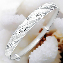 Wholesale Quartz Wedding Ring - Korean fashion silver jewelry meteor shower sliding ring 999 female models fine silver bracelet Valentine's Day gift to send his girlfriend