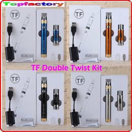 Wholesale Ecigarette Double Kit - Ecigarette TF double twist kit ecig vape vapor vaporizer pens box mod 2ml tanks atomizer vaporizers electronic cigarettes dhl free shipping