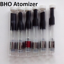Wholesale Empty Cigarette Tubes - Plastic Empty e cigarette atomizer tank vaporizer clearomizer for bho electronic ciagrette shipping free with Plastic Tube packing MOQ 100pc