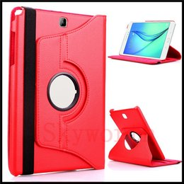 Wholesale Microfiber Flip Cover - 360 Rotating PU Leather Flip Case Cover for Samsung Galaxy Tab 4 Tab4 7.0 T230 with sleep and wake up function