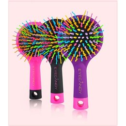 Wholesale Volume Hair Tool - Eyecandy Eye Candy 1pc New Rainbow Hair Brush Volume Comb Amazing S Waved Brush Styling Candy Magic Comb Tools Colorful Comb Hair Care Combs