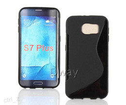 Wholesale S Line Case Galaxy - For Samsung Galaxy S7 Case New S Line Soft TPU Gel Skin Back Cover Case For Galaxy S7 plus